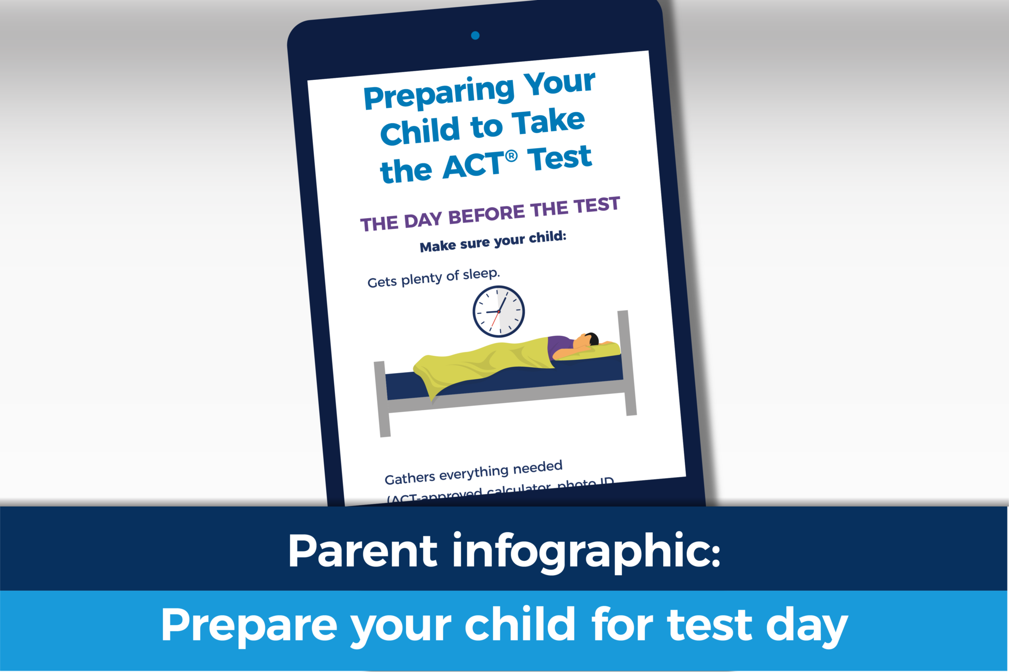 preparing your child for test day
